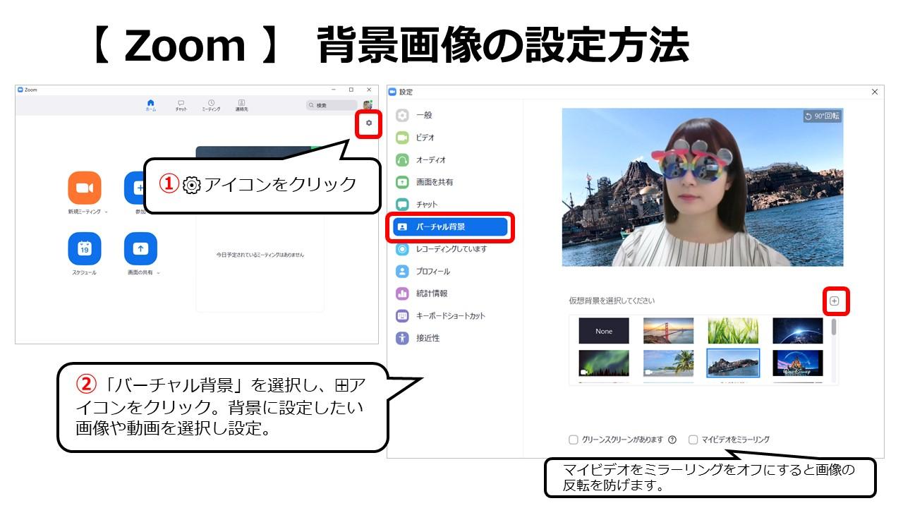 Zoom背景画面設定方法